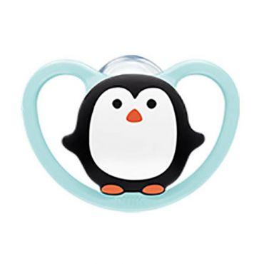 Nuk Space Πιπίλα Σιλικόνης Χωρίς Κρίκο Penguin 6-18m 1 τεμ - Αξεσουάρ για Μωρά στο Pharmeden.gr - Online Φαρμακείο