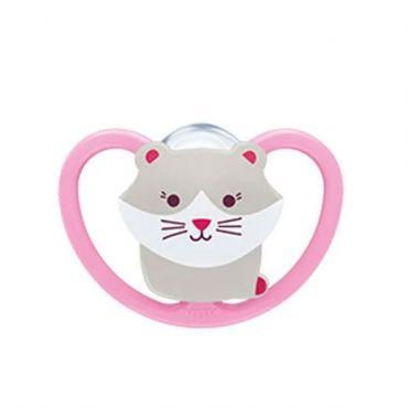 Nuk Space Πιπίλα Σιλικόνης Χωρίς Κρίκο Kitty 6-18m 1 τεμ - Αξεσουάρ για Μωρά στο Pharmeden.gr - Online Φαρμακείο