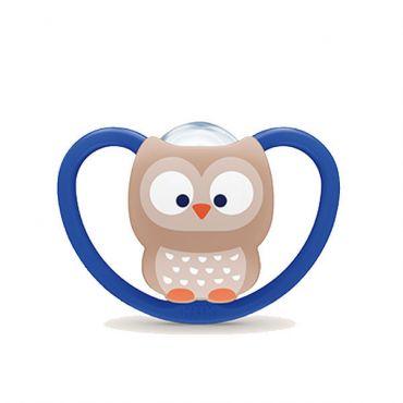 Nuk Space Πιπίλα Σιλικόνης Χωρίς Κρίκο Owl 6-18m 1 τεμ - Αξεσουάρ για Μωρά στο Pharmeden.gr - Online Φαρμακείο
