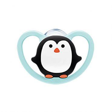 Nuk Space Πιπίλα Σιλικόνης Χωρίς Κρίκο Penguin 0-6m 1 τεμ - Αξεσουάρ για Μωρά στο Pharmeden.gr - Online Φαρμακείο