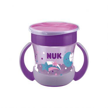Nuk Mini Magic Cup Night με Χείλος και Καπάκι Ροζ 6m+ 160ml - Αξεσουάρ για Μωρά στο Pharmeden.gr - Online Φαρμακείο