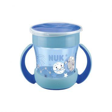 Nuk Mini Magic Cup Night με Χείλος και Καπάκι Μπλε 6m+ 160ml - Αξεσουάρ για Μωρά στο Pharmeden.gr - Online Φαρμακείο
