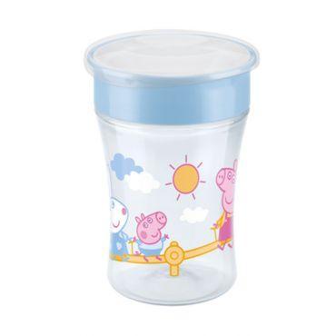 Nuk Peppa Pig Magic Cup με Χείλος και Καπάκι 8m+ Μπλε 230ml - Αξεσουάρ για Μωρά στο Pharmeden.gr