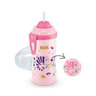 Nuk Flexi Cup Παγουράκι που Αλλάζει Χρώμα 12m+ Ροζ 300ml - Αξεσουάρ για Μωρά στο Pharmeden.gr
