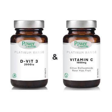 Power Health Platinum D-Vit3 2000iu 60s tabs & ΔΩΡΟ VitaminC 1000mg 20s tabs - Συμπληρώματα Διατροφής στο Pharmeden.gr