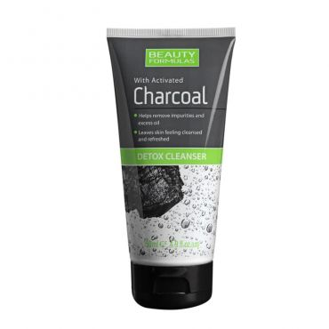 Beauty Formulas Activated Charcoal Detox Cleanser 150ml - Πρόσωπο στο Pharmeden.gr - Online Φαρμακείο