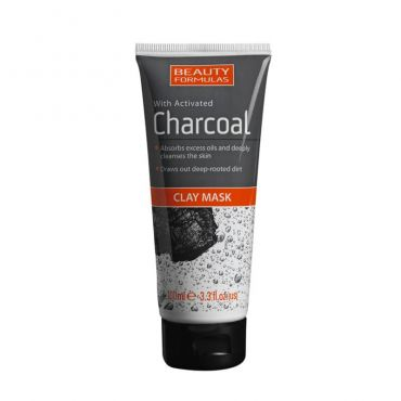 Beauty Formulas Activated Charcoal Clay Mask 100ml - Πρόσωπο στο Pharmeden.gr - Online Φαρμακείο