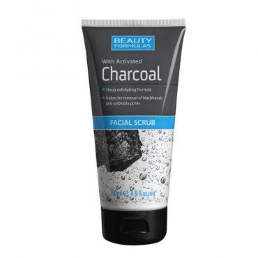 Beauty Formulas Charcoal Facial Scrub 150ml - Πρόσωπο στο Pharmeden.gr - Online Φαρμακείο