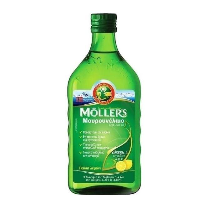 Moller's Cod Liver Oil Lemon 250ml - Συμπληρώματα στο Pharmeden.gr - Online Φαρμακείο