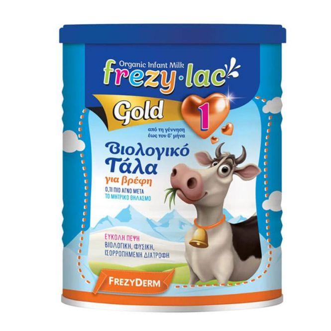 Frezyderm Frezylac Gold 1 Βιολογικό Αγελαδινό Βρεφικό Γάλα 400gr - Βρεφικές Τροφές στο Pharmeden.gr - Online Φαρμακείο