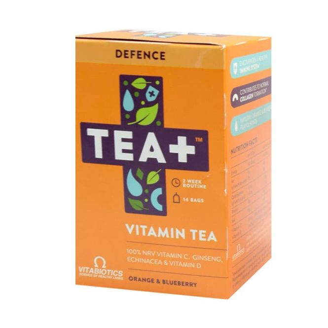 Vitabiotics Tea+ Defence Vitamin Infused Tea 14 Bags - Βιταμίνες στο Pharmeden.gr - Online Φαρμακείο