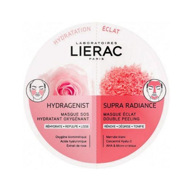 Lierac Duo Masques Hydragenist & Supra Radiance 2x6ml - Πρόσωπο στο Pharmeden.gr - Online Φαρμακείο