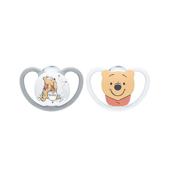 Nuk Space Winnie the Pooh Πιπίλα Σιλικόνης Χωρίς Κρίκο 18-36m 1 τεμ - Αξεσουάρ για Μωρά στο Pharmeden.gr - Online Φαρμακείο