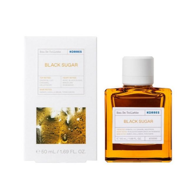 Korres Black Sugar  Eau De Toilette 50ml - Πρόσωπο στο Pharmeden.gr - Online Φαρμακείο