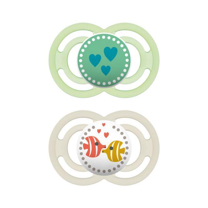 Mam Perfect Πιπίλα Σιλικόνης Πράσινο (281S) 16+ μηνών 2 τεμ - Αξεσουάρ για Μωρά στο Pharmeden.gr - Online Φαρμακείο