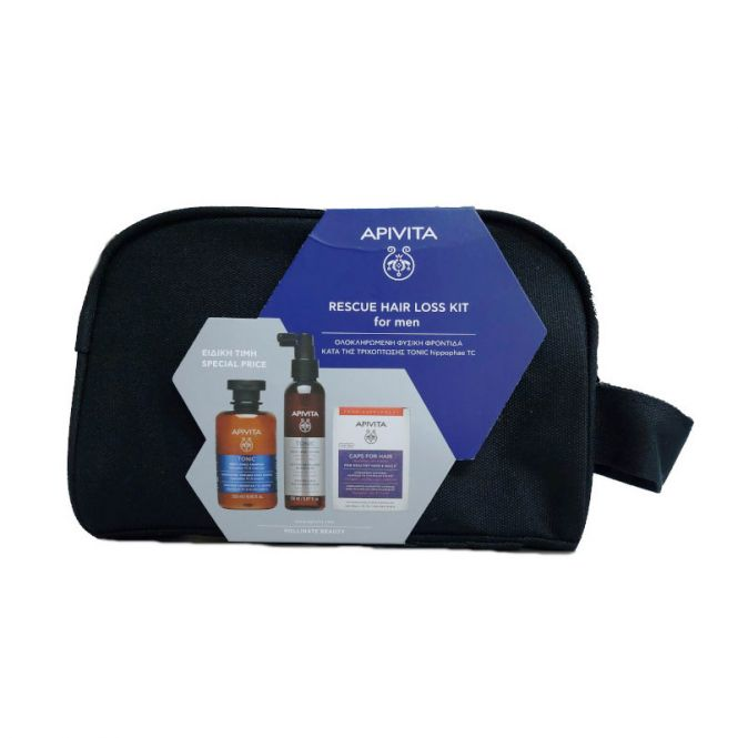 Apivita Rescue Hair Loss Kit For Men Tonic Shampoo 250ml & Hair Loss Lotion 150ml & Caps For Hair 30 caps - Συμπληρώματα Διατροφής στο Pharmeden.gr - Online Φαρμακείο