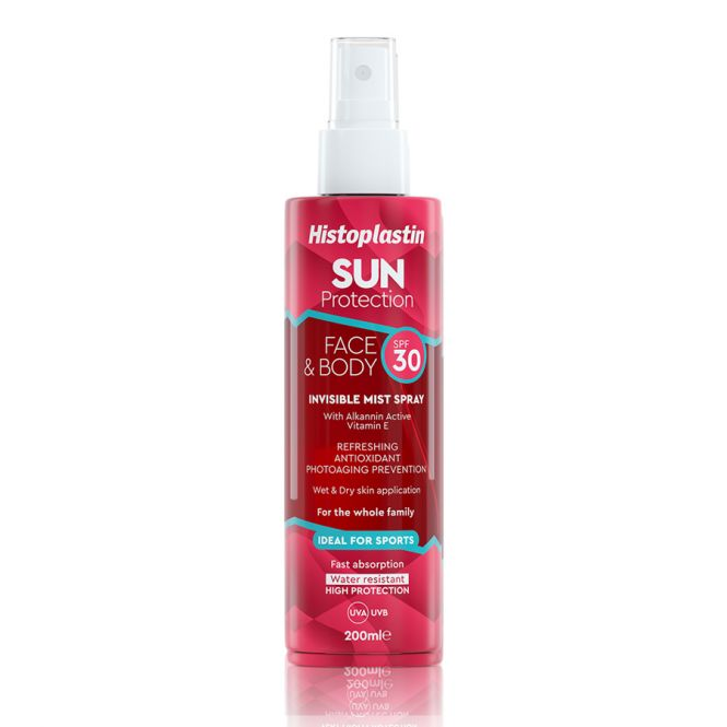 Histoplastin Sun Protection Invisible Mist Spray Face & Body SPF30 200ml - Αντηλιακά στο Pharmeden.gr - Online Φαρμακείο